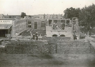 Construction of Blair Bank and Arndt Hardware (c. 1881)