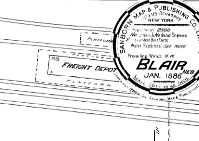 """Early """"Blair House"""" Hotel & Depot"""