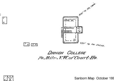 Dana College - Sanborn Map - 1889