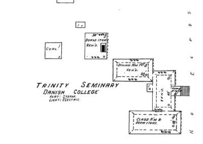 Dana College - Sanborn Map - 1909