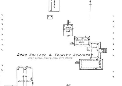 Dana College - Sanborn Map - 1923