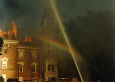 Destroyed by fire in 1988