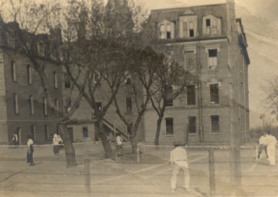 Tennis Courts west of Old Main