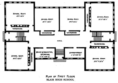Central High School - First floor plans