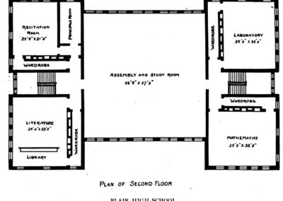 Central High School - Second floor plans