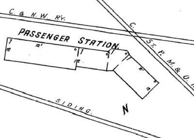 1910 Blair Depot - Sanborn Map