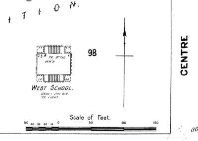 West School Sanborn Map - 1923