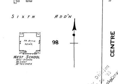 West School Sanborn Map - 1909