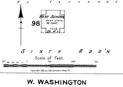 West School Sanborn Map - 1902