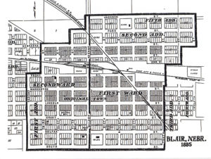 Blair plat map from 1885.