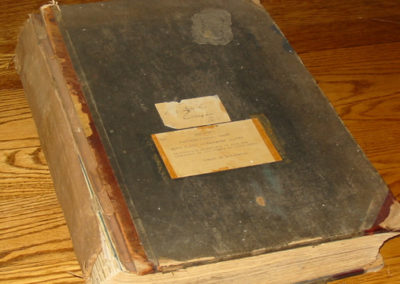 Merchants Hotel Registry Book