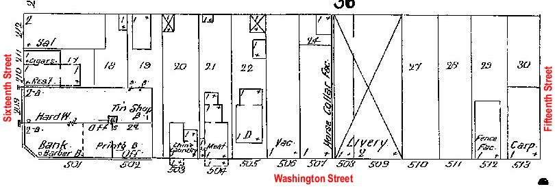 Block 46, Washington Street, Blair, NE Sanborn Map from 1909