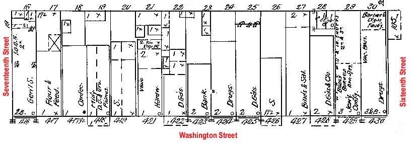 Block 37, Washington Street, Blair, NE Sanborn Map from 1909