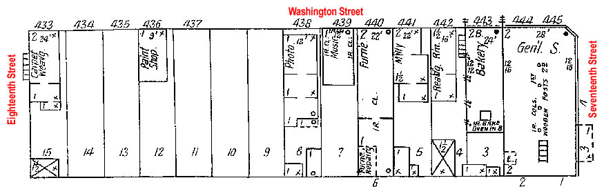 Block 45, Washington Street, Blair, NE Sanborn Map from 1909